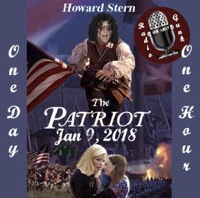January 9, 2018 – Howard Stern – The Patriot