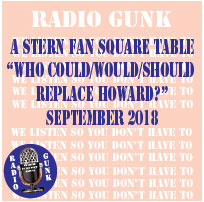 "A Stern Fan Square Table ""Who could/would/should replace Howard Stern?"""