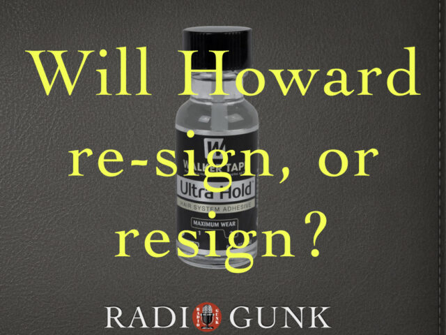 Will Howard Stern re-sign or resign?