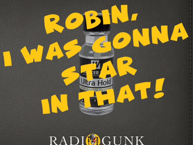 Robin, I was gonna STAR in that movie!