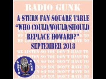 Radio Gunk Stern Fan Square Table for September 2019