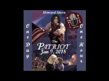 January 9 2018 - Howard Stern - The Patriot listen at Radiogunk